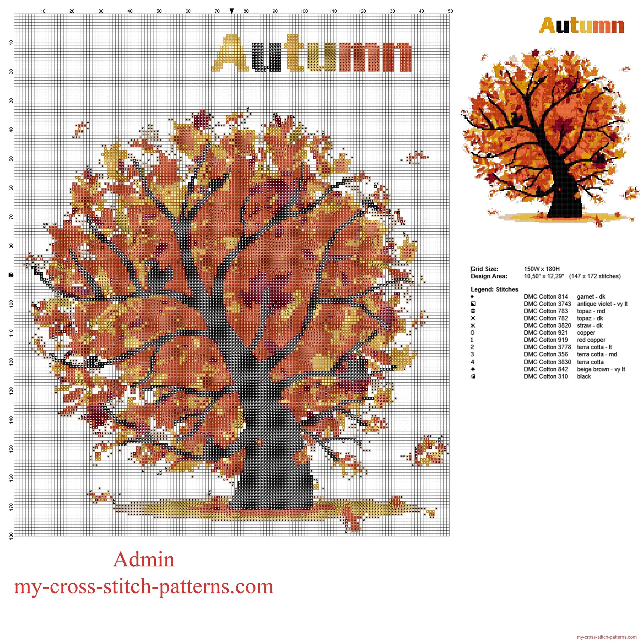 albero_autunnale_con_le_foglie_cadenti_schema_punto_croce_gratis