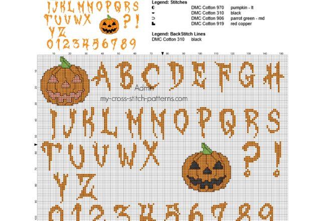 alfabeto_punto_croce_di_halloween_con_le_zucche