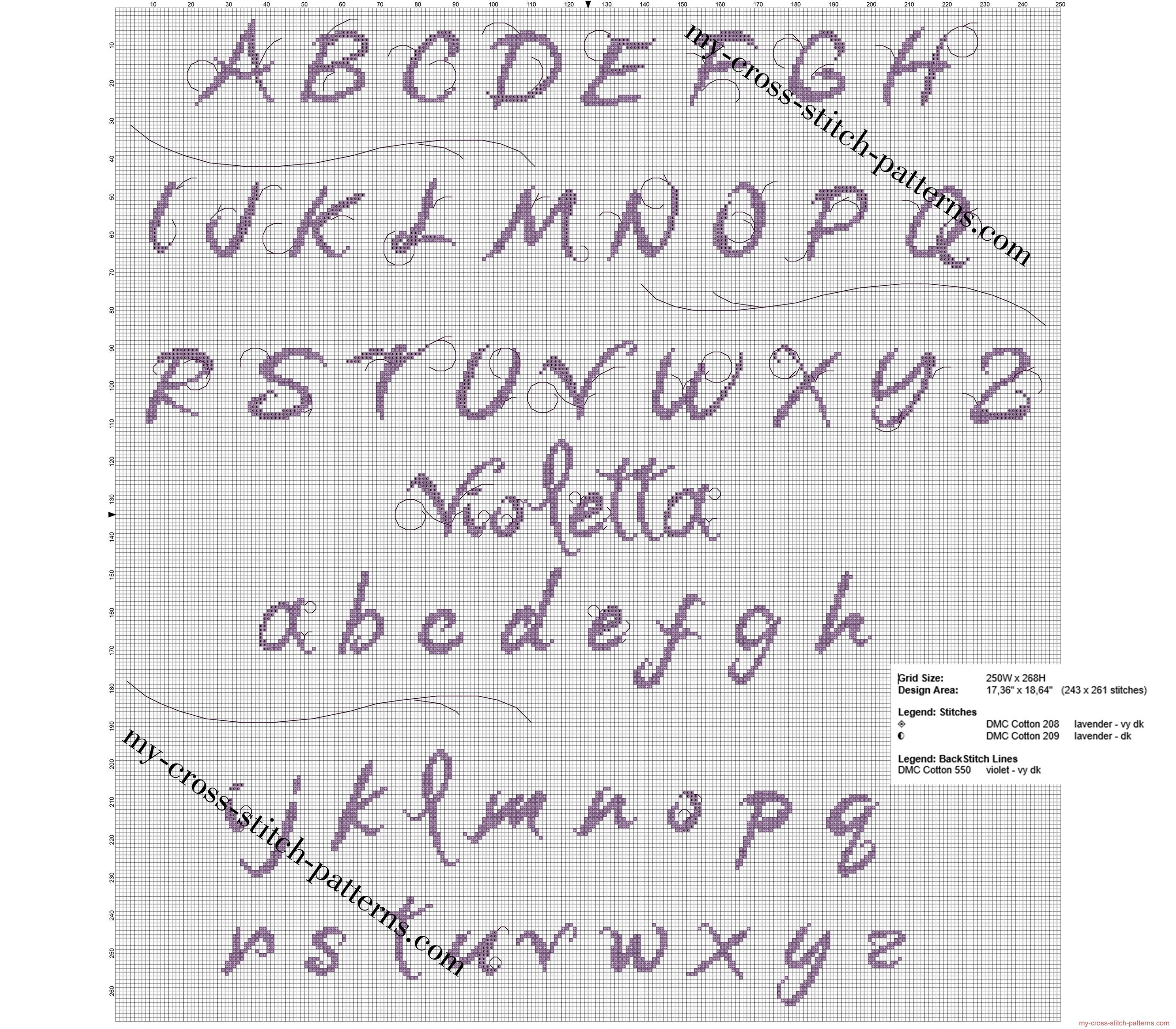 alfabeto_punto_croce_gratis_di_disney_violetta