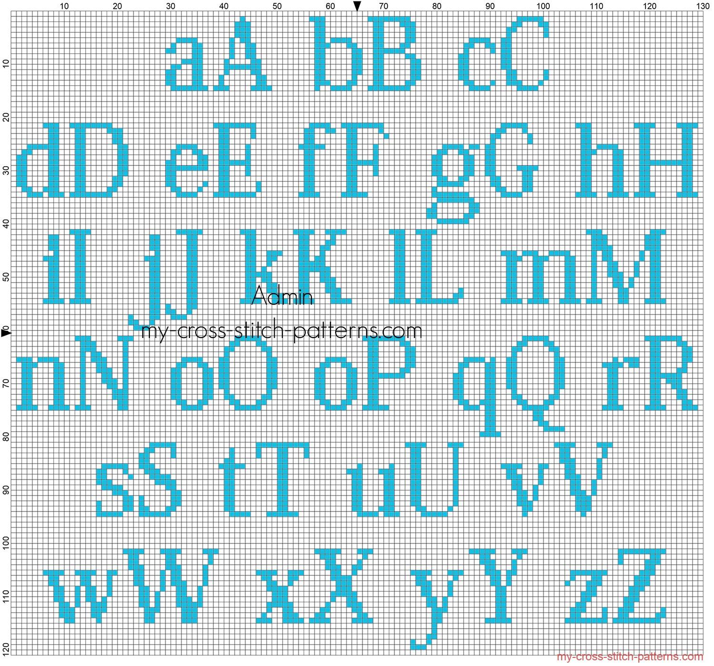 alfabeto_punto_croce_gratis_kozuka_mincho_altezza_20_per_bimbi_colore_dmc_996