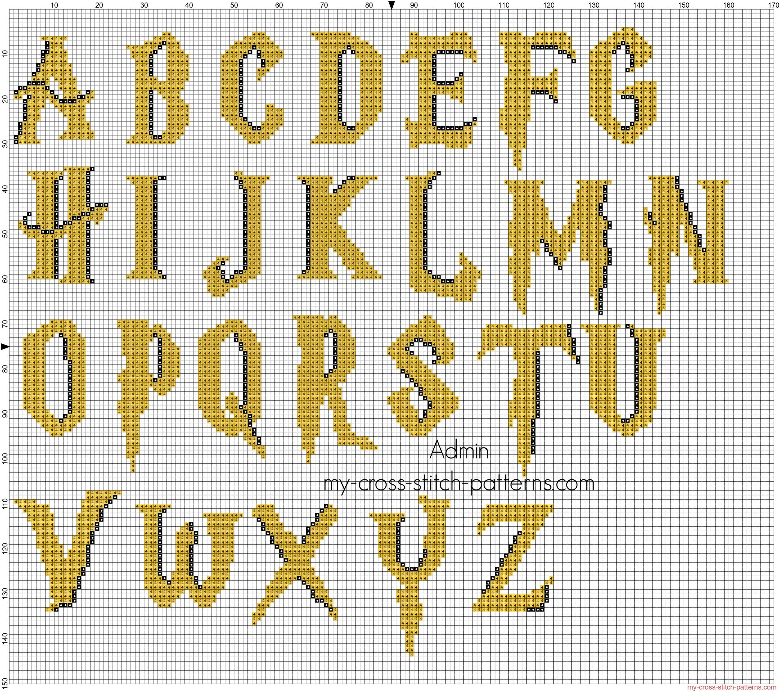 alfabeto_punto_croce_harry_potter_colorato