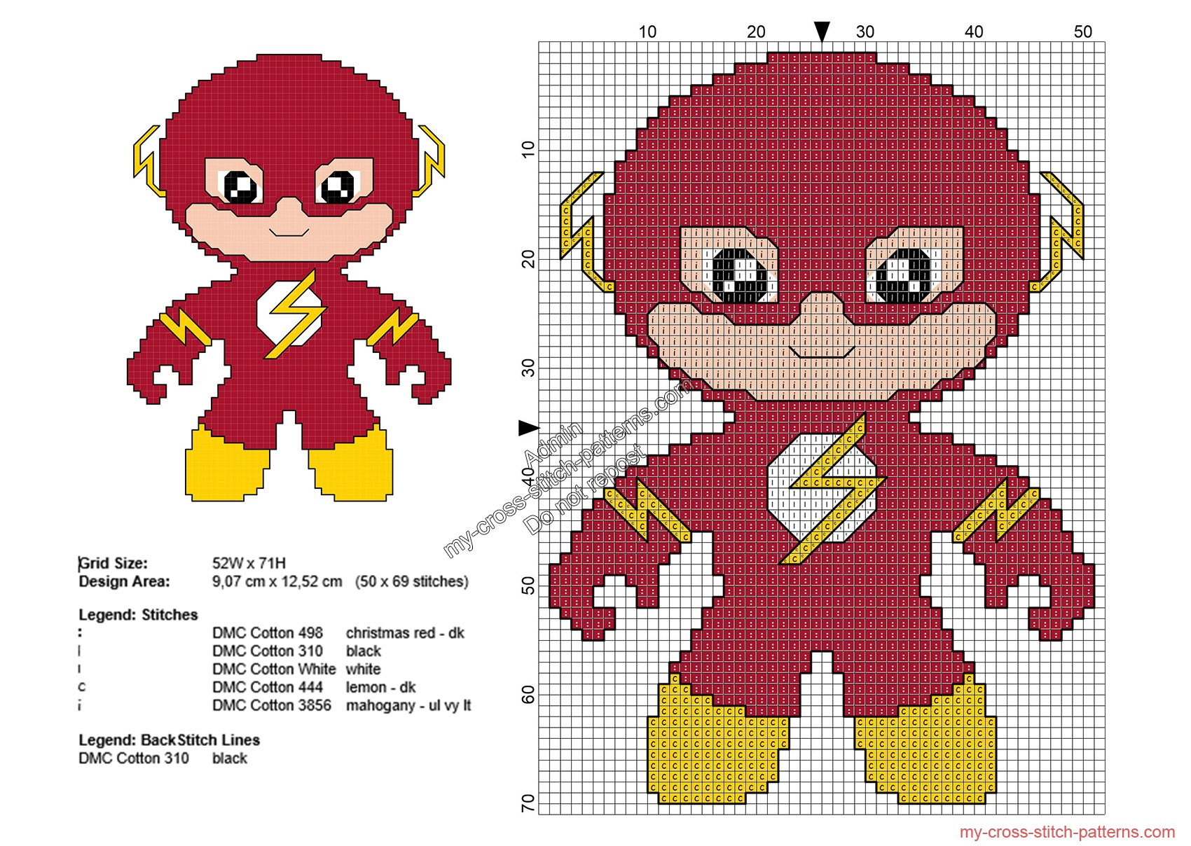 baby_flash_schemi_punto_croce_supereroi_gratis_50x69