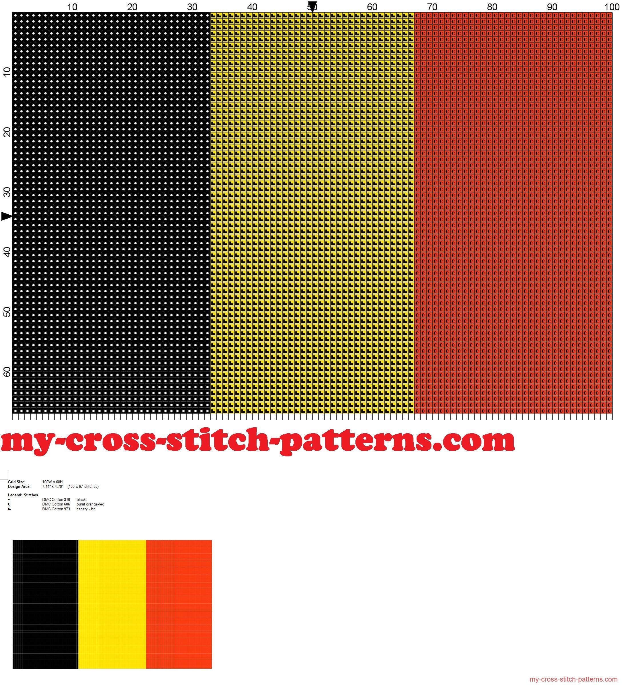 bandiera_belgio_schema_punto_croce_
