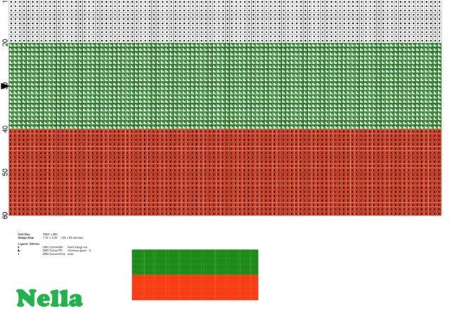 bandiera_bulgaria_schema_punto_croce_