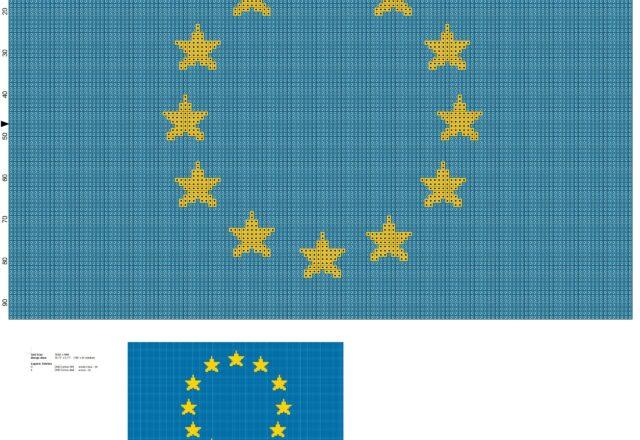 bandiera_europa_schema_punto_croce_