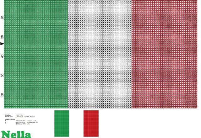 bandiera_italia_schema_punto_croce_
