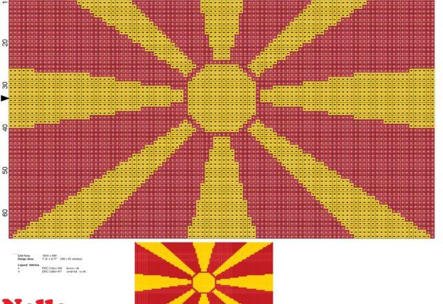 bandiera_macedonia_schema_punto_croce_