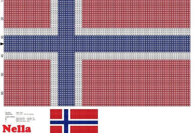 bandiera_norvegia_schema_punto_croce_