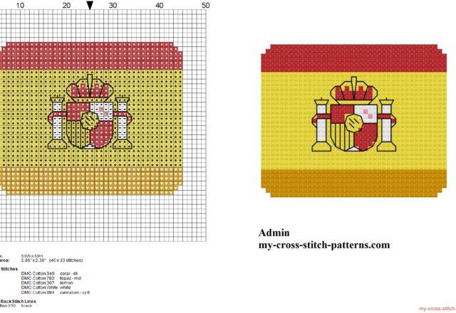 bandiera_piccola_della_spagna_schema_punto_croce