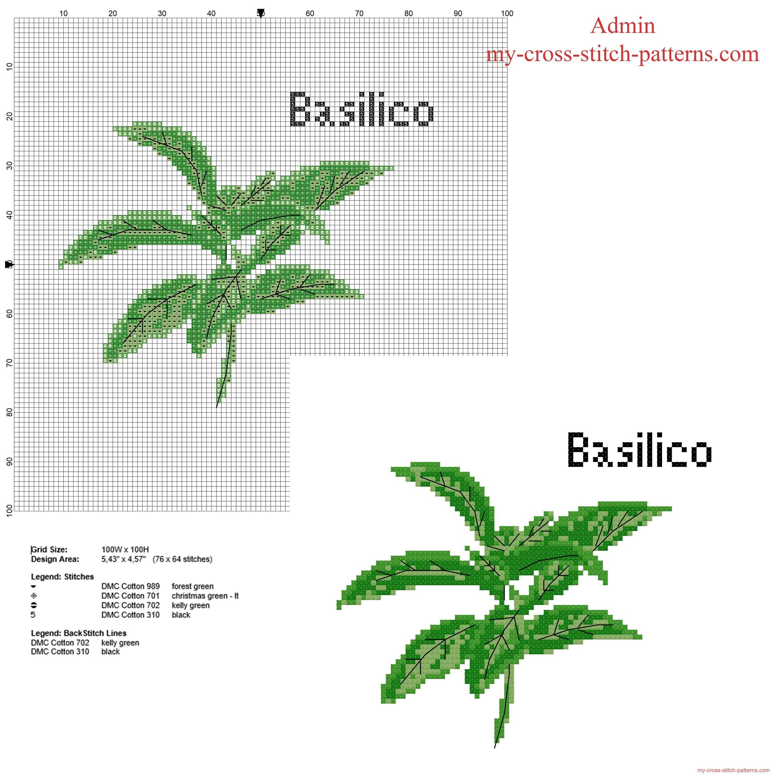 basilico_erba_aromatica_schema_punto_croce_gratis