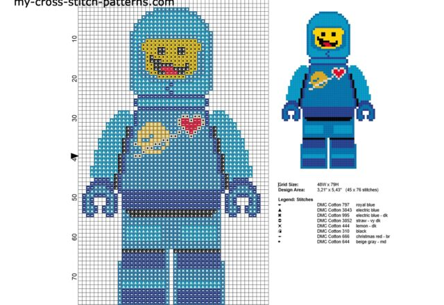 benny_lastronauta_the_lego_movie_schema_ricamo_punto_croce