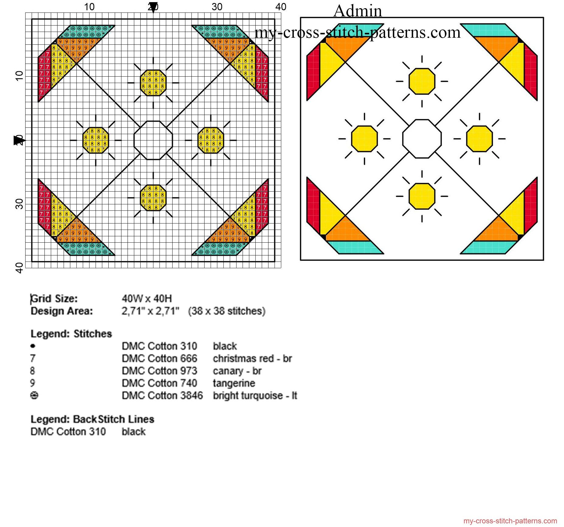 biscornu_punto_croce_con_ombrelloni_colorati_per_lestate