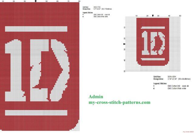 due_schemi_punto_croce_del_logo_dei_one_direction