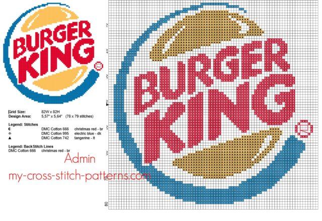 il_logo_del_fast_food_burger_king_schema_punto_croce
