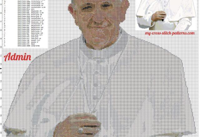 il_papa_francesco_in_un_nuovo_schema_punto_croce_226x246_e_41_colori