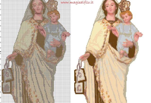 la_madonna_del_carmelo_schema_di_ricamo_33_colori