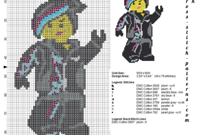 lego_wildstyle_the_lego_movie_schema_punto_croce