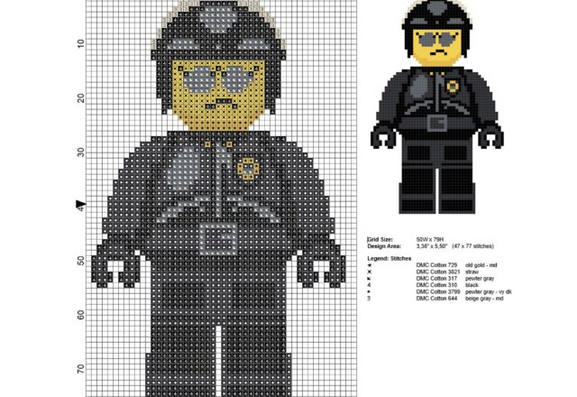 poliduro_politenero_personaggio_the_lego_movie_schema_punto_croce