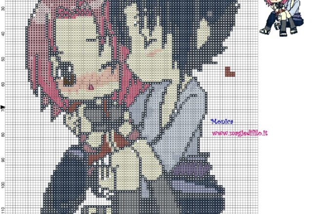 schema_punto_croce_sasuke_e_sakura_naruto