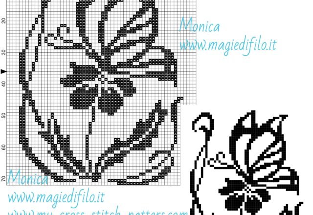 schema_punto_croce_una_farfalla_su_un_fiore_