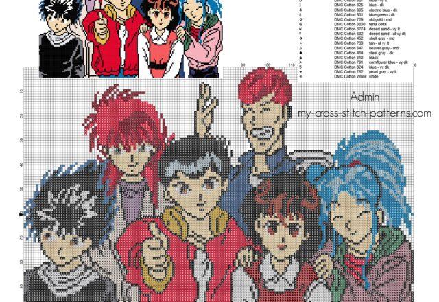 schema_punto_croce_yu_degli_spettri_manga_anime
