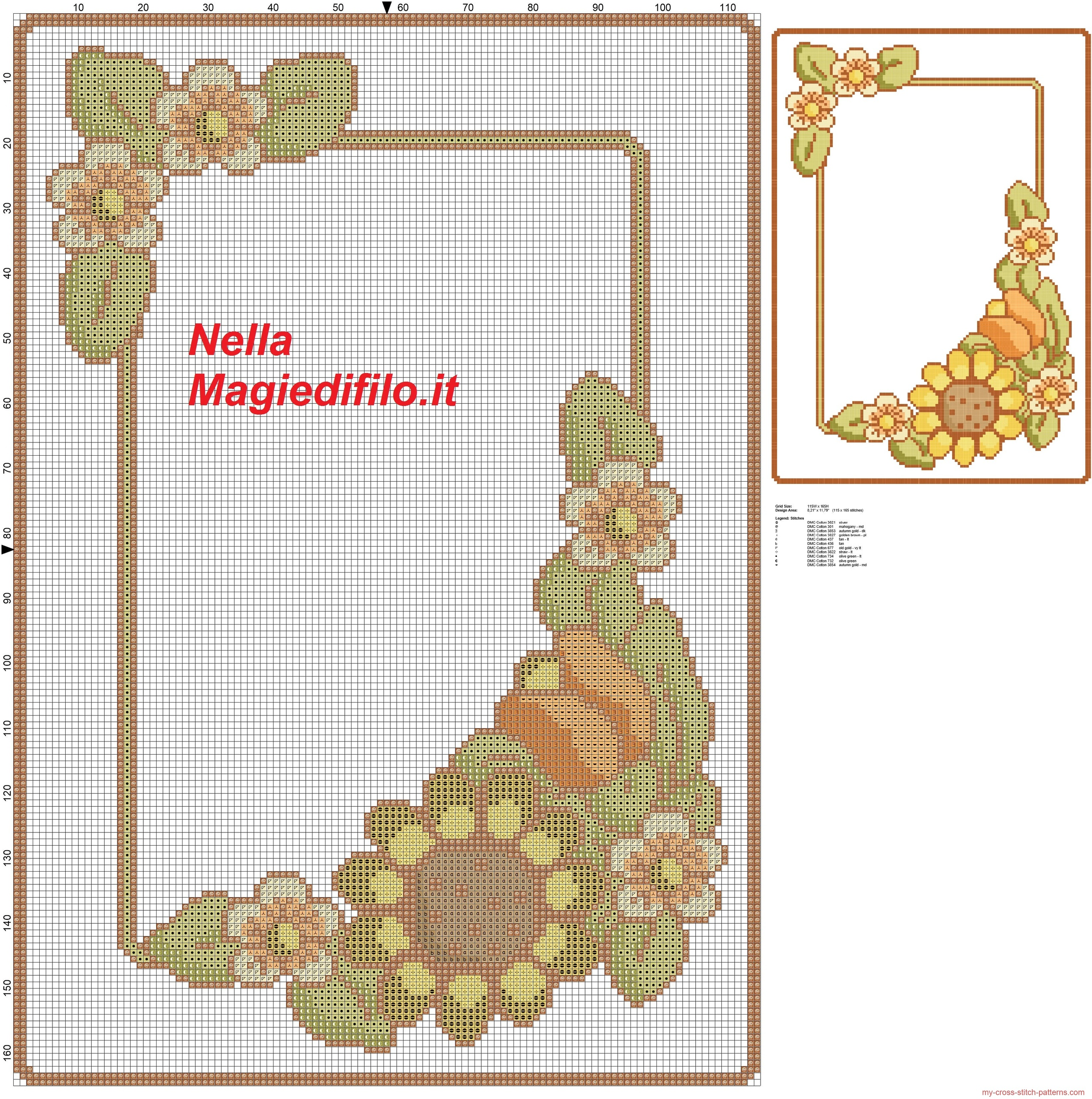 schema_thun_per_vassoio_con_girasole_schema_punto_croce_gratis