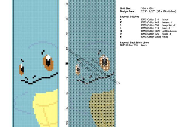 segnalibro_da_ricamare_punto_croce_col_pokemon_squirtle_32_x_120